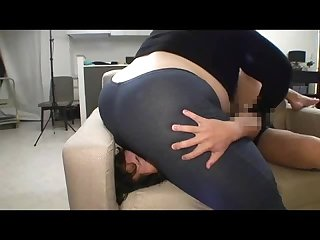 Amazon asian in jeans destroy her little boy