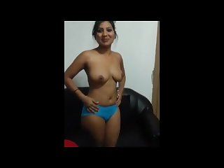 Indian female employee strip for boss