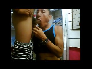 Big Latino dick fucks bareback in a storage room