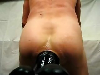 Huge dildo dilate in ass