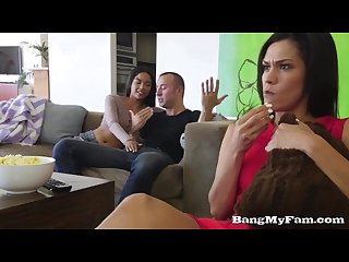 Movie night turns into fuck night for horny sis maya bijou