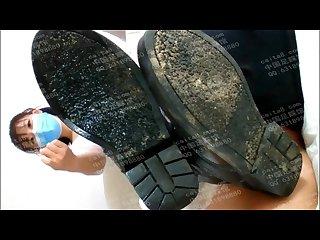 Chinese Boot job lick dirty