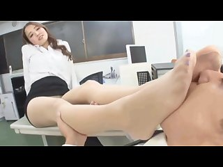 Office lady nylon sexy feet sniffed