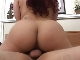 Tattooed girl gets on top of hard cock while sucking another guy S rod