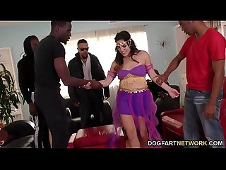 Monica Sage Interracial Gangbang