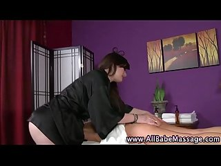 Horny fetish lesbian seduces client