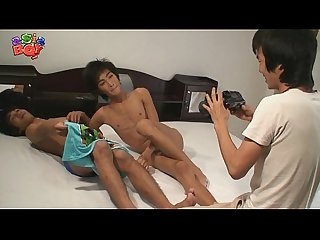 Asian twinks in threesome