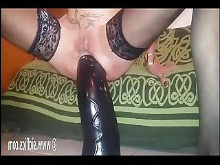Self destroy my ass with an enormous dildo