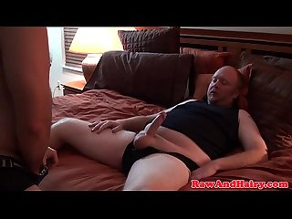 Fat chubby bear assdrilling bottom