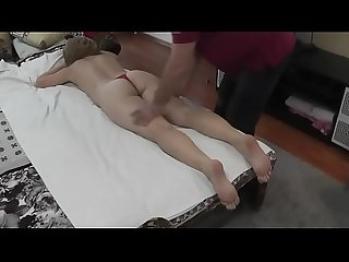 Wife gets pussy massage