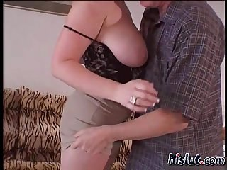 Husband watches his bbw wife get fucked