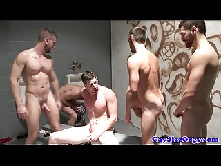 Trevor knight and pals jerk off together