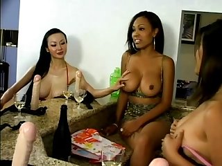 Lesbian toy fuck party
