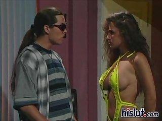 Lisa takes on two men