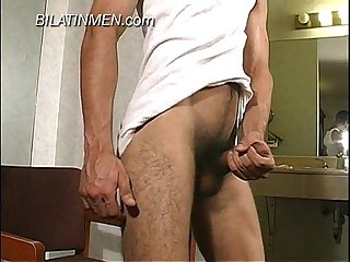 Young Latino boy with uncut cock