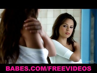 Hot sexy brunette teen Nina james masturbates after her shower