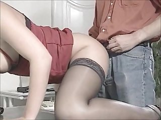 Danish cutie fucking her boss on her day off
