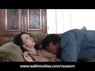 Mom and son get a good creampie