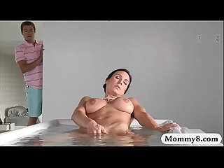 Stepmom kendra lust fucking with teen and her stepson