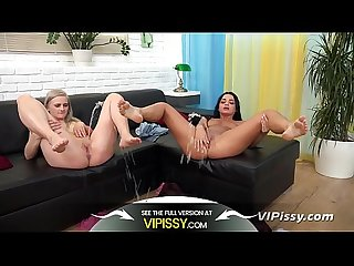 VIPissy - Fun pissing lesbians splash about in their golden juices